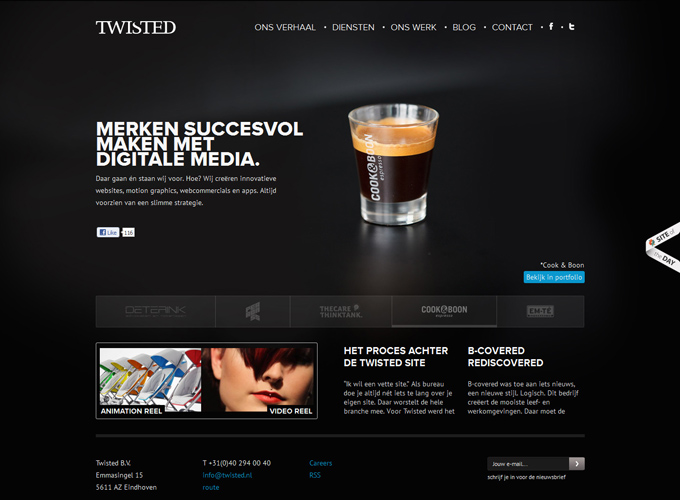 Twisted Black in Web Design: 50 Beautiful Examples