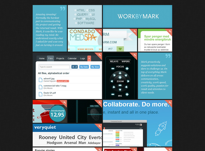 Work by Mark Black in Web Design: 50 Beautiful Examples