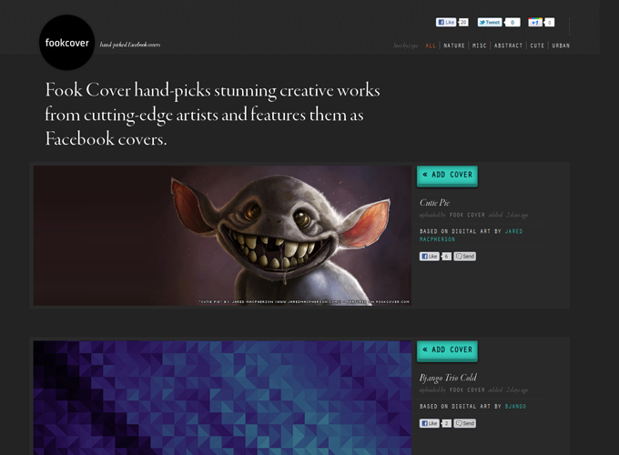 Fook Cover Black in Web Design: 50 Beautiful Examples