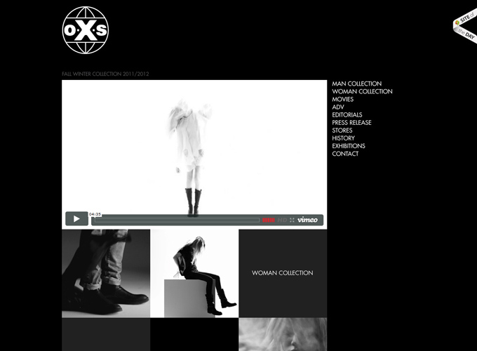 O.X Black in Web Design: 50 Beautiful Examples
