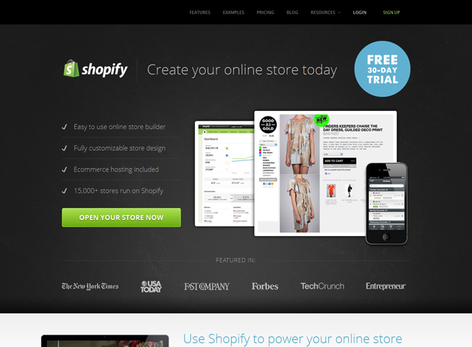 Shopify Black in Web Design: 50 Beautiful Examples