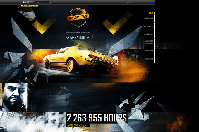 Game Trends Driver Club Driver San Francisco Black in Web Design: 50 Beautiful Examples