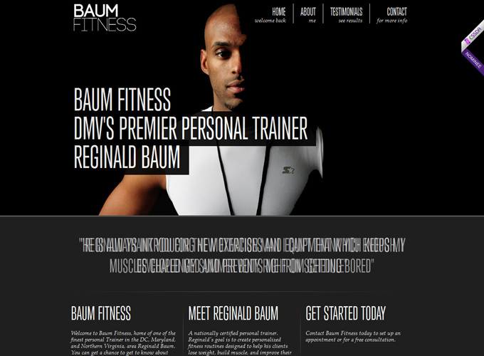 Baum Fitness Black in Web Design: 50 Beautiful Examples
