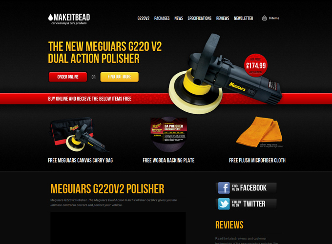 Meguiars G220v2 Polisher Dual Action Porter Cable Black in Web Design: 50 Beautiful Examples