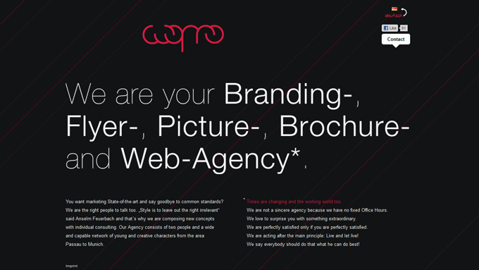 wopro Black in Web Design: 50 Beautiful Examples